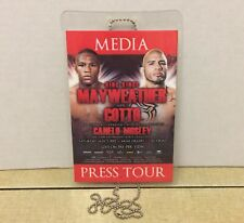 Floyd Mayweather Jr vs Miguel Cotto Boxing Media Press Tour Pass Credential