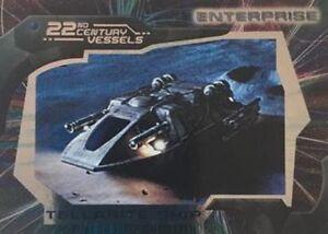 STAR TREK ENTERPRISE SEASON 2 22nd  CENTURY VESSELS CARD    CHOOSE V1 TO V12