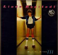 LINDA RONSTADT living in the usa (red vinyl with lyric inner) LP EX/EX- K53085