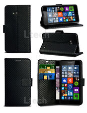 For Sony Xperia XA / F3111 / F3113 - Slim Carbon Fibre Style PU Leather Case