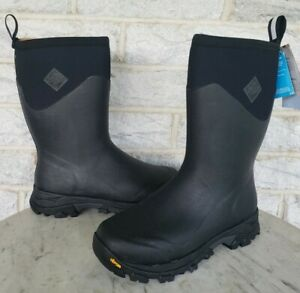 Muck Mens Arctic Ice Extreme Mid Boots Vibram Soles Size 10 Black AVMV-150 $180