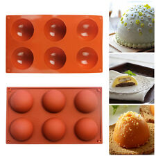 6-Cavity Half Circle Sphere Silicone Baking Mold Bakeware Soap  Dessert Mould