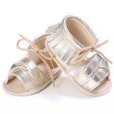 Summer Baby Girls Kids Sandals Tassel Leather Crib Shoes Soft Sole Prewalkers