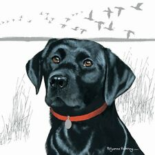 Black Labrador Pollyanna Pickering blank inside greetings Birthday card