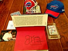 JIM KELLY AUTO 1984 TOPPS USFL ROOKIE CARD #36 AUTOGRAPH MINI HELMET BOOK & HAT