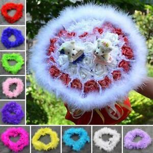 2 M DIY Various Colours Marabou Feather Boa For Burlesque Boas Dress Party