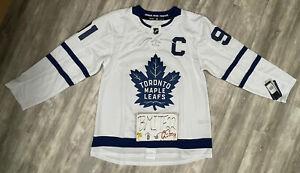 NWT John Tavares Toronto Maple Leafs Adidas Authentic Climalite Hockey Jersey 52