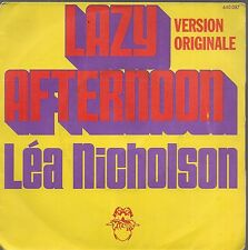 "45 TOURS / 7"" SINGLE--LEA NICHOLSON--LAZY AFTERNOON / SORRY ABOUT...--1976"