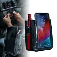 Multifunctional Car Bag Automotive Air Vent Mobile Phone Storage Pouch Cover