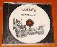 Atlas Craftsman - Lathe Manuals,Part lists,Charts & Extras Disc See Description