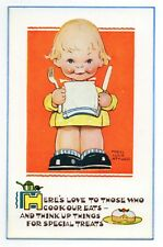 "Mabel Lucie Attwell 1940's POSTCARD 5327 ""HERE'S LOVE TO THOSE WHO.."" Unposted"