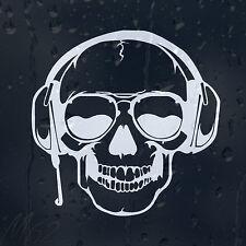 DJ Skull Car Decal Vinyl Sticker For Window Or Panel Or Bumper