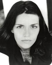 BRITISH ACTRESS GEORGIA MACKENZIE HAND SIGNED 10 x 8 B&W PROMO PHOTOGRAPH