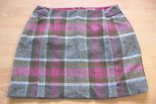 BODEN check  tweed wool  mini Skirt  size 16s  WG619  NEW