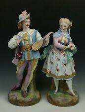 "19C Vion & Baury figurines ""Man with Lute & Lady"" WorldWide"