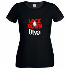 Lock Down Diva Ladies Black Printed T-Shirt XTSN177