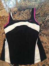NWOT Nike Fit Dry black white fuschia Size S tennis workout top