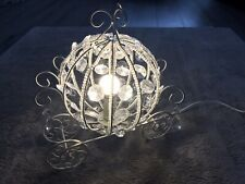 Carriage Princess Bedroom Cinderella Inspired White Crystal Lamp