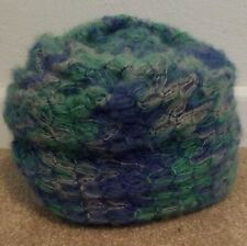 Very nice vintage Reggi W Women's Hat Green and Blue Fair to Good condition