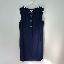 Lily Pulitzer Navy Formal Dress 100% Silk Size 6