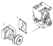 02934430 OIL PUMP WITH GSKT DEUTZ BF4L1011 ENGINES