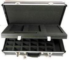 Aluminum Large Professional Camera Hard Case Shell Foam Dividers 24x12x6 Inches