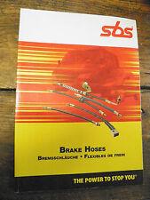catalogue  SBS -  Flexibles de frein - brake hoses