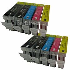 10 ink cartridges WITH CHIP for the CANON PIXMA MP 610