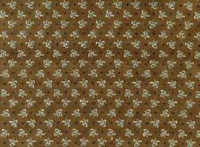 Fat Quarter Around Town Dark Brown Floral Cotton Quilting Fabric - Red Rooster