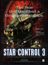 STAR CONTROL 3__Original 1996 print AD / game promo__Accolade__PC advertisement