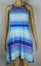 Children's Place Blue Striped Sleeveless Handkerchief Dress Girl's/ Kid's XXL 16