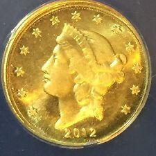 1/10 oz .999 Gold Bullion 2012 Liberty Eagle Daniel Carr  ANACS MS-69 Cameo