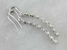 0.40 Ct Diamond Drop Dangle Earrings 14k White Gold GP Love Anniversary Gift