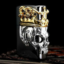 Zippo Lighter Beauty Beast Side Crown Skull King Japan Model Black Titanium F/S