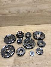 Industrial Machine Age Steel Lot 12 Gears/Cogs Steampunk Art Parts Lamp Base Cv