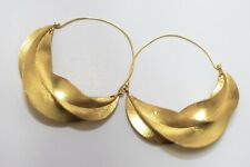 Extra Large 3.5 Inches Fulani African Hoop Earrings