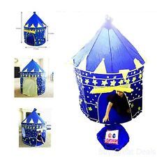 Children Indoor Outdoor Play Tent Blue Castle Playhouse Kids Gift Portable House