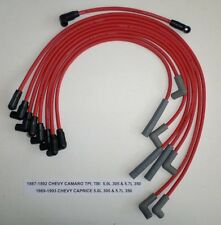 CHEVY CAMARO,CAPRICE 1987-1993 5.0L 5.7L/350 TPI,TBI RED Hi-Per Spark Plug Wires