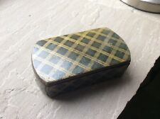 Antique Papier Mache Tartan Ware Snuff Box