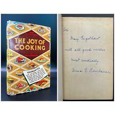 SIGNED & INSCRIBED - The Joy of Cooking - 1943 Edition - Irma ROMBAUER 1943 1st