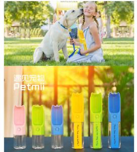 Portable Dog Pet Multifunction Water Bottle Cup Travel Dispenser Drinking Feeder