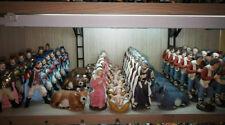 "20 pastori 10 cm terracotta 1"" qualita artigianali presepe crib shepherd gia a35"