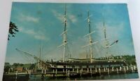 Vintage Postcard Mystic Seaport Charles W. Morgan Ship Connecticut Posted 1962
