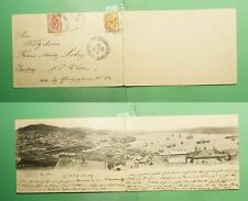 DR WHO 1903 RUSSIA WLADIWOSTOK DOUBLE POSTCARD TO AUSTRIA  g01816