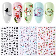 Mix Patterns Christmas Nail Sticker Nail Art Transfer Stickers Nail Decorations