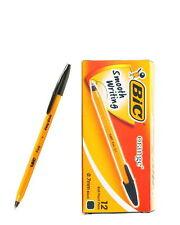 12 PCS BIC Orange Fine 0.7mm Easy Glide Ballpoint Pen 1 Box Black vee