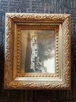 ANTIQUE / gold gilded frame Victorian