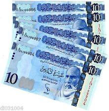 5 Billets / 5 PCS : Libye Libya Billet 10 Dinars 2015 NEW NOUVEAU NEUF UNC