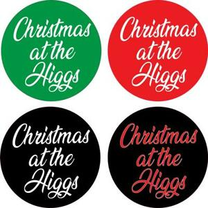 Christmas At The Higgs Stickers Santa Father Present Xmas Day Party Funny Gift