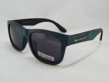 BioHazard Optics Sunglasses BLUE Wood Grain Design Unisex Men's New Shades